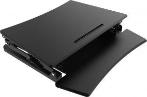 Height Adjustable Desktop Platform folded