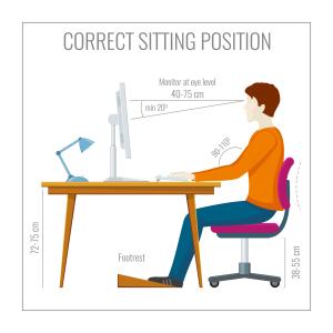 Correct sitting position